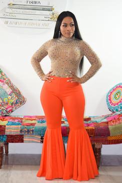 Extreme Flare Pants Orange