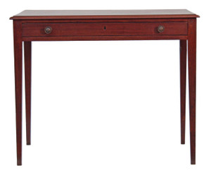 Antique Georgian 19C mahogany side writing occasional table