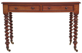Antique quality Victorian C1870 mahogany side writing occasional table desk