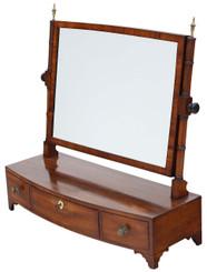 Antique quality Georgian Regency mahogany dressing table swing mirror toilet