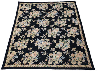 "Antique large quality William Morris Style needlepoint rug carpet ~8'6""x6'"