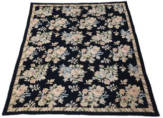"Antique large quality William Morris Style needlepoint rug carpet ~8'6""x6'"