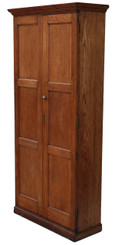 Antique Victorian oak hall housekeeper's kitchen bookcase larder cupboard