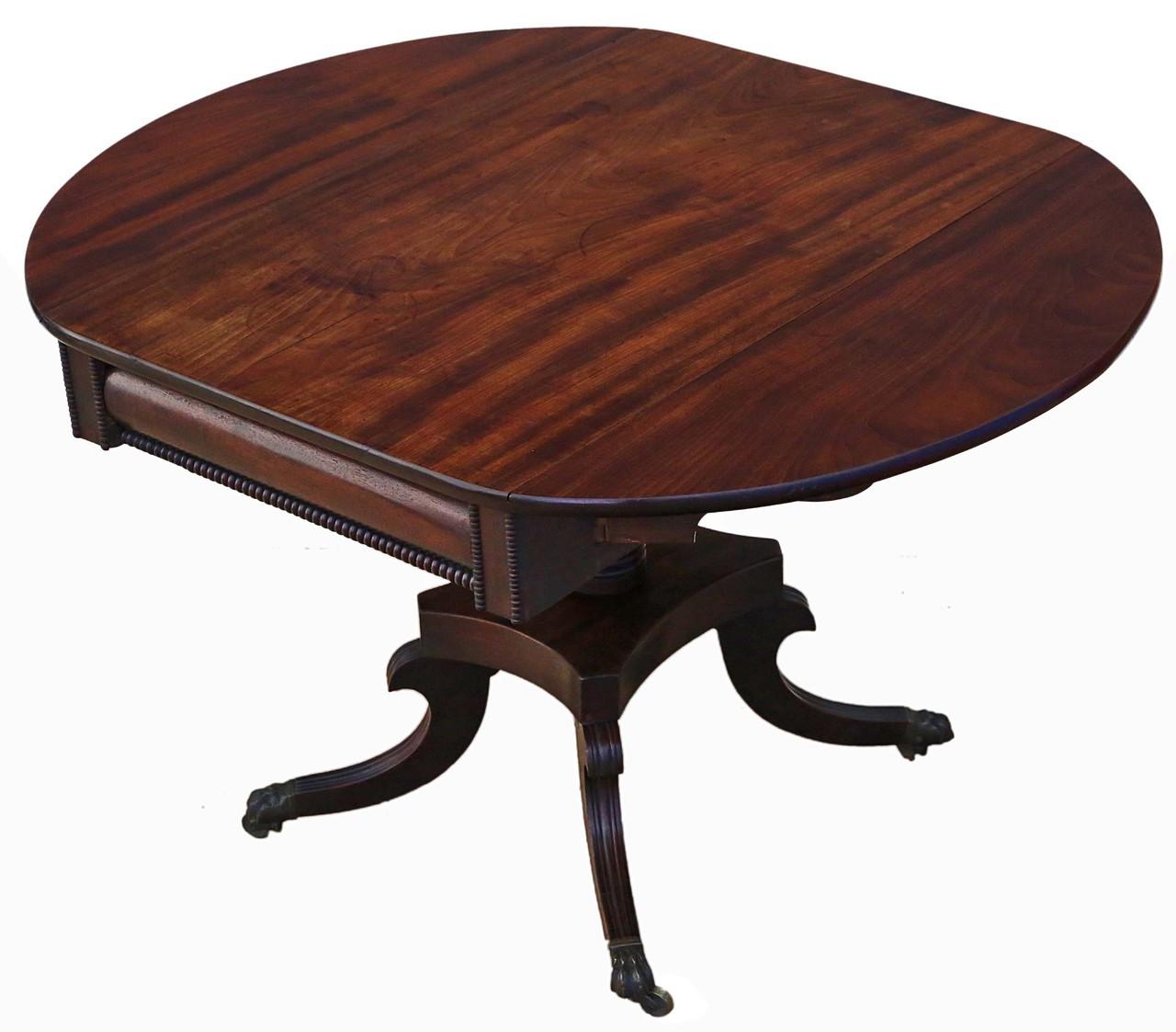 Fine Antique Quality Georgian Regency Mahogany Pedestal Pembroke Andrewgaddart Wooden Chair Designs For Living Room Andrewgaddartcom