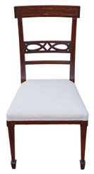 Antique quality Edwardian inlaid mahogany dining chair bedroom hall
