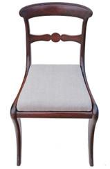 Antique rare mahogany Georgian Regency dining chair
