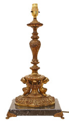 Antique quality ormolu cast brass bronze marble table lamp C1920