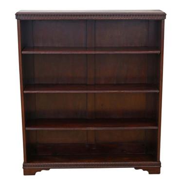 Antique adjustable oak bookcase display shelves C1920