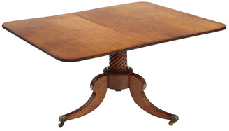 Antique quality Regency C1825 light mahogany loo breakfast table tilt top