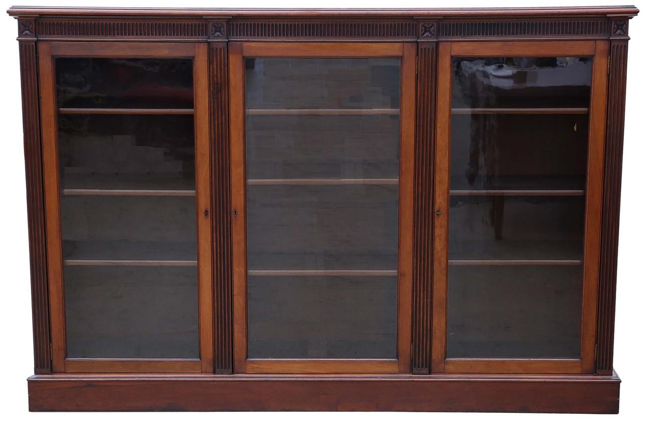 Antique Large Quality Victorian C1880 1900 Mahogany Bookcase