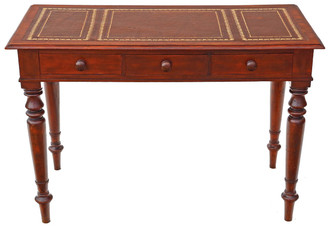 Antique Victorian C1870 mahogany writing dressing table desk