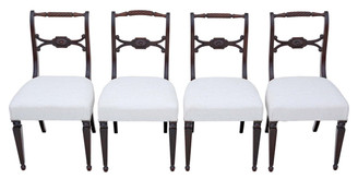 Antique set of 4 mahogany Regency dining chairs