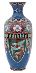 Antique early 20th Century Japanese cloisonne vase