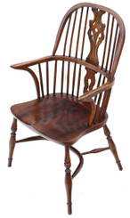 Antique quality ash and elm Windsor armchair chair hall side dining