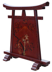 Antique Victorian 19th Century Chinoiserie fire scree