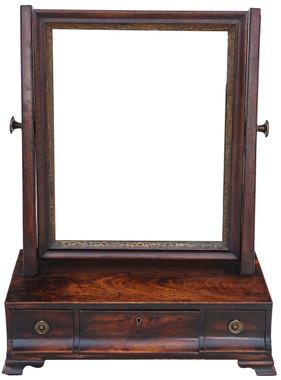 Antique Georgian Regency mahogany dressing table swing mirror