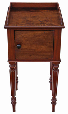 Antique Victorian C1880 mahogany bedside table cupboard cabinet