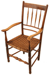 Antique 18th Century ash elm armchair chair hall side dining carver