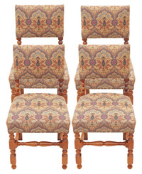 Antique set of 4 mahogany Cromwellian dining chairs oak cherry