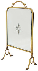 Antique Victorian ormolu brass cut glass fire screen