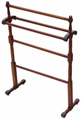 Antique Victorian C1880 mahogany towel rail stand