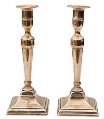 Antique pair of 19th Century brass candlesticks