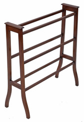 Antique Victorian C1900 Arts & Crafts mahogany towel rail stand