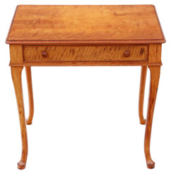 Antique fine quality small Victorian satin walnut writing table desk