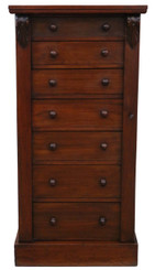 Antique quality Victorian mahogany Wellington chest of drawers