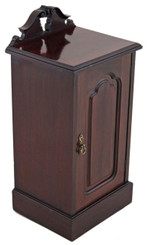 Antique large Victorian 19C mahogany bedside table cupboard