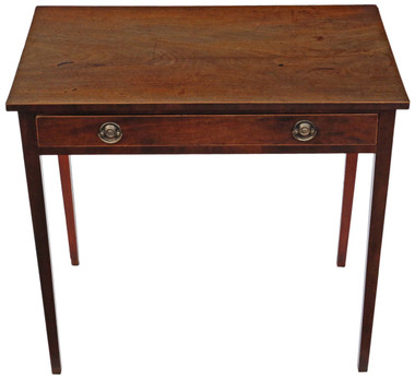 Antique Georgian C1820 mahogany writing desk dressing side table