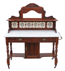 Antique mahogany marble washstand or dressing table
