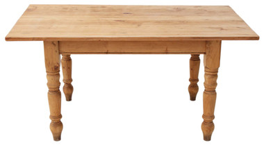 Antique pine scrub top farmhouse kitchen dining table