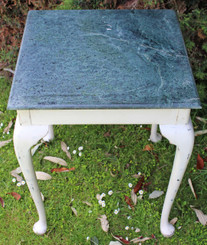 Antique shabby chic marble plant side occasional side table