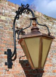 Large huge reclaimed antique garden copper lantern