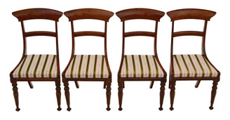 Antique set of 4 Regency rosewood dining chairs