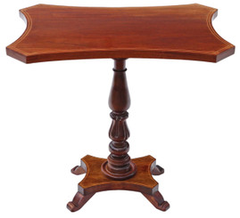 Antique quality reproduction Regency G. Smith mahogany wine table side