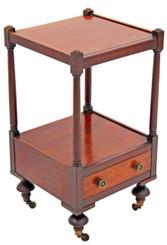 Antique Victorian 19C mahogany bedside table cupboard cabinet