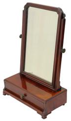 Antique quality Georgian mahogany dressing table swing mirror toilet