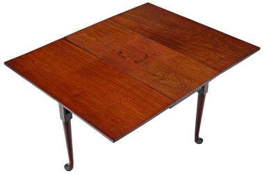 Antique quality Georgian C1800 mahogany pad foot gateleg dining table 5'x4'