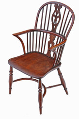 Antique quality 19th Century yew & elm Windsor chair