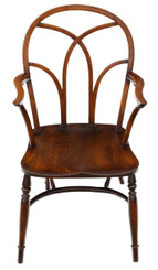 Antique quality 19th Century ash, beech & elm Windsor chair