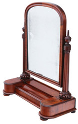 Antique fine quality large dressing table swing mirror toilet C1860