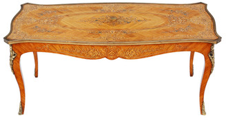 Antique French kingwood marquetry coffee or low side table