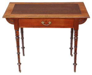 Antique late Victorian C1900 mahogany desk or writing table