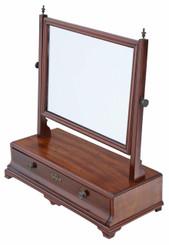 Antique Regency mahogany dressing table swing mirror toilet C1825