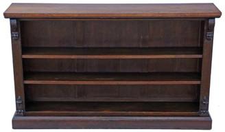 Antique quality large Victorian adjustable walnut bookcase 5' C1880