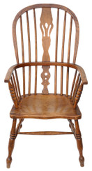 Antique Victorian C1840 ash & elm Windsor chair armchair dining