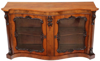 Antique large Victorian rosewood mahogany credenza sideboard chiffonier
