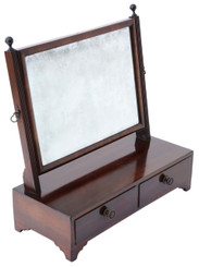 Antique quality Georgian mahogany swing dressing table mirror toilet